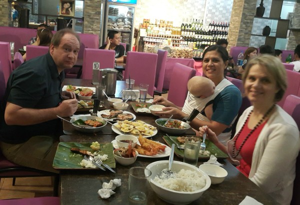 Our uncles enjoys seafood, so we took him to a Dampa seafood place where we chose different seafood to buy and then took our purchases to the restaurant and told them how to cook them. It was all delicious.