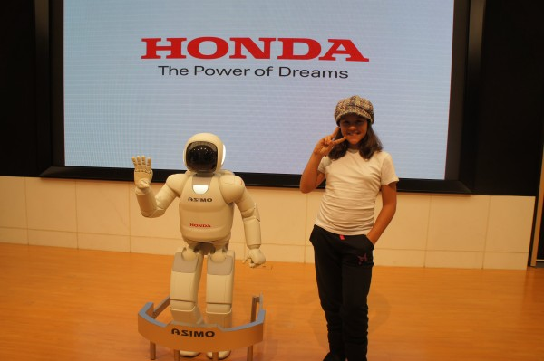 We went to the Honda showroom and got to see ASIMO.
