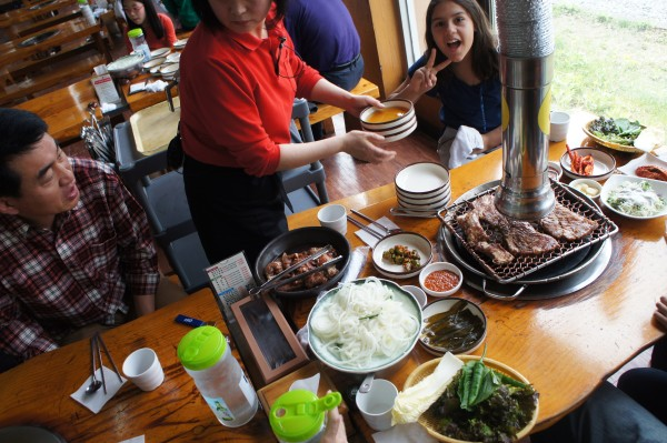 For lunch we stopped at a Korean BBQ restaurant and it was so good.