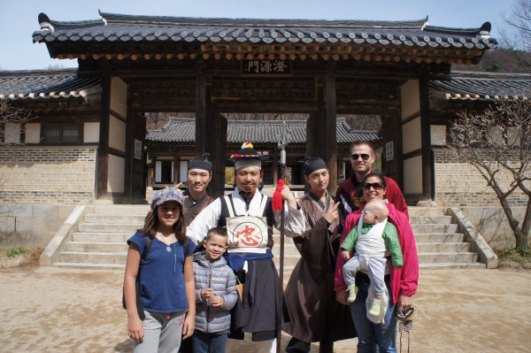 We drove an hour to a Korean Folk Village where people were in costume and you could see homes to how things use to be.