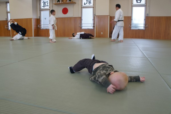 Blake even got in on the action of learning the proper way to fall in the Aikido class.