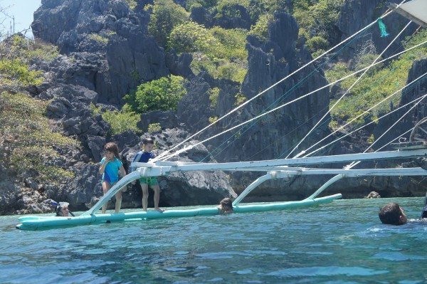 Snorkeling with fish was fun, but the kids really liked jumping off the boat while it was anchored.