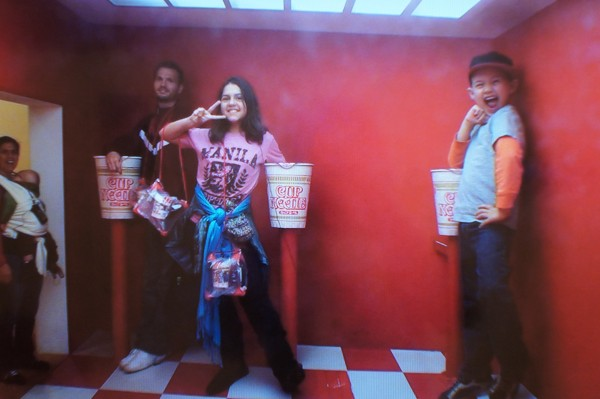 We walked around the Cup Noodles museum and learned about the history of Cup Noodles and also played at the interactive displays.