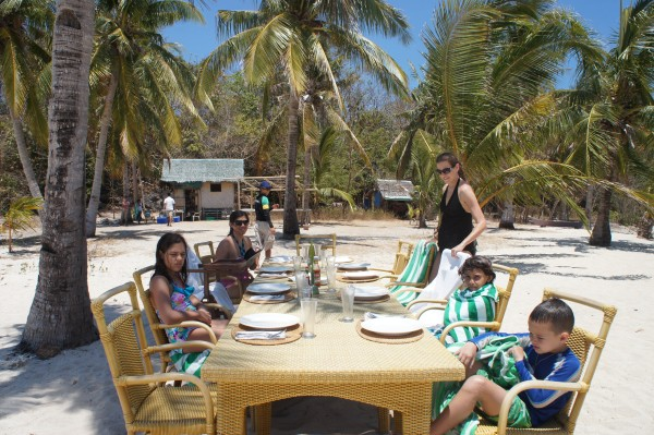 During our private island hopping tour, we also had our own private lunch on a deserted island. They brought the resort accommodations and food to us!