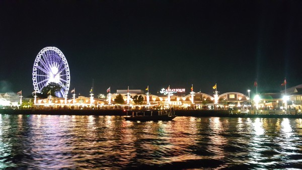 View of Asiatique as seen from the ferry.