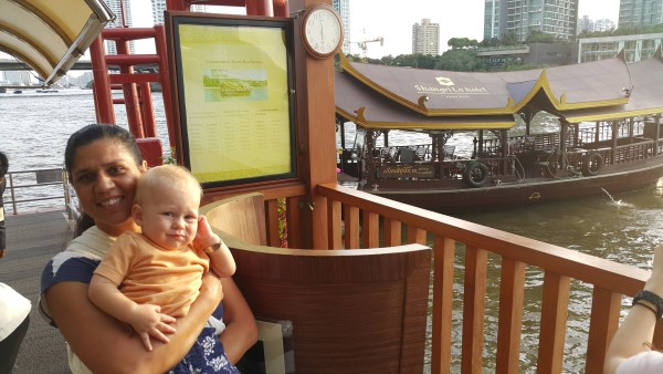 Matt and I had a quick date with Blake riding the free ferry that Shangri-La provides to Asiatique that is just up the river.