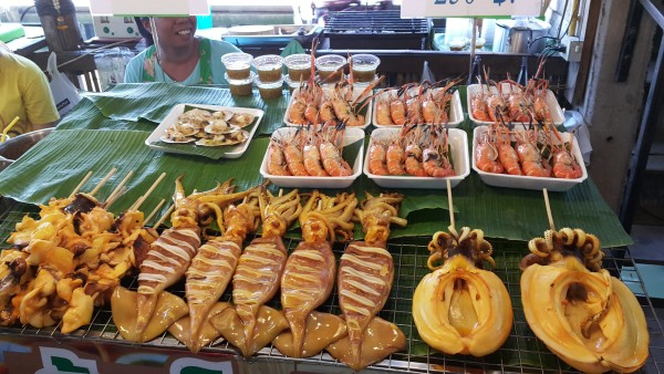 There is a wide array of food options...Squid anyone?