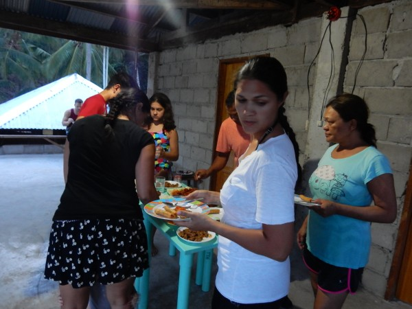 Since it the festivals were taking place, our family feed us a couple of different times at their home. We would eat at a private area on the second floor of the home as guests of honor.