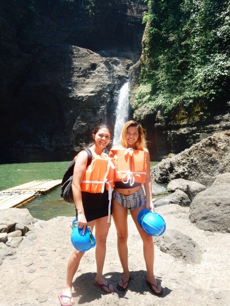I took the girls to Pagsanjan Falls. Blake and I stayed at the resort while they went to see the falls.