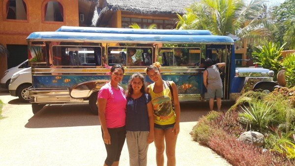 Before we left Siquijor the girls wanted a photo with a jeepney.