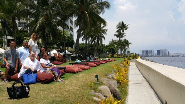 We also took the crew to Soffitel hotel which is on Manila bay so they could experience Spiral Buffet.