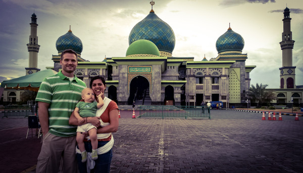 Our first stop after getting off the airport was to An-Nur Great Mosque