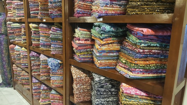 So many different Batik material to chose from.
