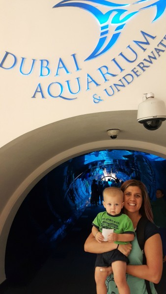 While the older kids stayed home to play with their friends and toys, Blake joined Matt & I at the Dubai Mall where we took him to his first aquarium.