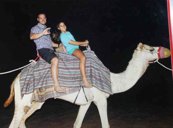 Camel ride was short, but now we can say we rode a camel in the desert.
