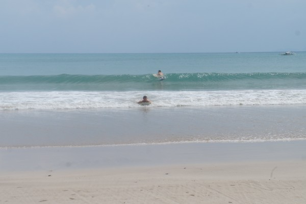 The dads did boogie boards and had some pretty decent size waves.