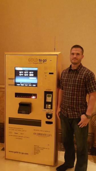 ATM machine where you can buy gold is inside the Emerites Palace.