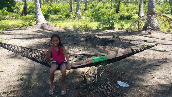 The kids also liked playing on the hammocks.