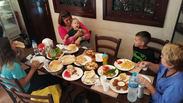 We had lunch at a yummy Lebanese restaurant.