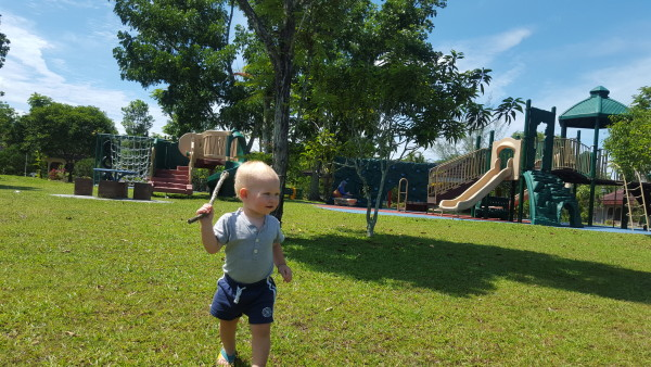 Blake got to experience a real play ground and he LOVED it. A boy with a stick is a pretty great day.