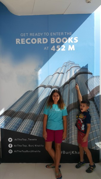 You don't actually go all the way to the top of the building, but still at 452 meters, we made the records books.