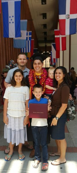 Farley family with the graduate
