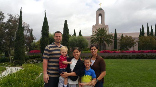We got to walk around the Newport Beach temple grounds.