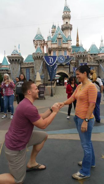 Matt proposed to me in front of the castle. Trying to replace the memory of proposing to another girl in front of this castle