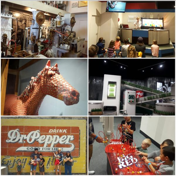 After eating lunch at In-N-Out Burger, we stopped at the Dr. Pepper Museum. I have never drank Dr. Pepper, but it was fun and educational to show the kids how things use to be.