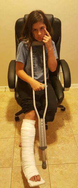 We visited the ER and learned about sprains, splints, and how to use crutches.