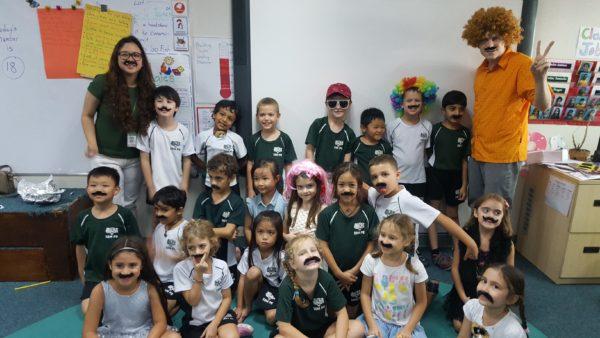 Mason's 1st grade class.