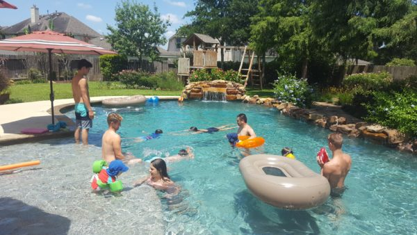 The rain let up and we had beautiful weather for family swim day.