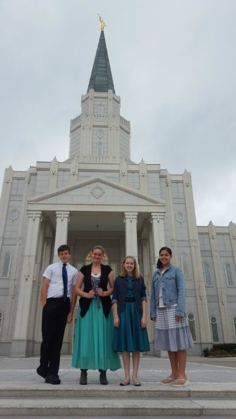 Attending the temple monthly with other homeschool friends.