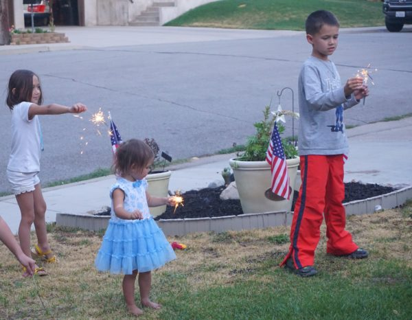 Since we arrived on the 4th of July, it was great to see the kids play with their cousins and use sparklers to celebrate.