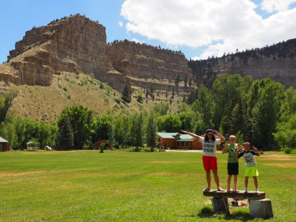 We stayed at Camelot Resort on the Strawberry River up the Provo Canyon. The kids really enjoyed the view and were excited to see our cousin from Texas already at the resort.